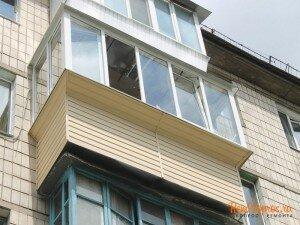 отделка балкона снаружи